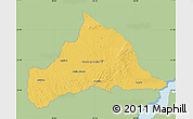 Savanna Style Map of CERRO LARGO, single color outside