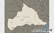 Shaded Relief Map of CERRO LARGO, darken