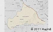 Shaded Relief Map of CERRO LARGO, desaturated