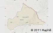 Shaded Relief Map of CERRO LARGO, lighten