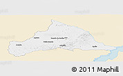Classic Style Panoramic Map of CERRO LARGO, single color outside