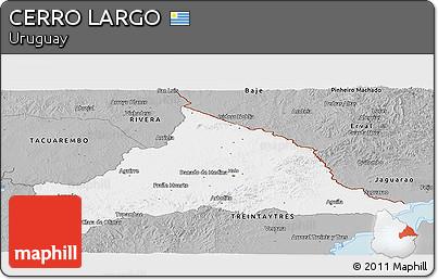 Gray Panoramic Map of CERRO LARGO