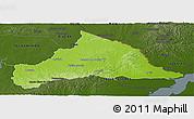 Physical Panoramic Map of CERRO LARGO, darken