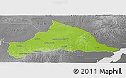 Physical Panoramic Map of CERRO LARGO, desaturated