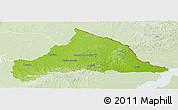 Physical Panoramic Map of CERRO LARGO, lighten