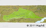 Physical Panoramic Map of CERRO LARGO, satellite outside