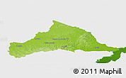 Physical Panoramic Map of CERRO LARGO, single color outside