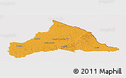 Political Panoramic Map of CERRO LARGO, cropped outside