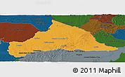 Political Panoramic Map of CERRO LARGO, darken