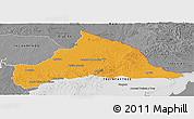 Political Panoramic Map of CERRO LARGO, desaturated