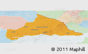 Political Panoramic Map of CERRO LARGO, lighten