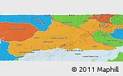 Political Panoramic Map of CERRO LARGO