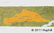 Political Panoramic Map of CERRO LARGO, satellite outside