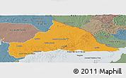 Political Panoramic Map of CERRO LARGO, semi-desaturated