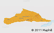 Political Panoramic Map of CERRO LARGO, single color outside