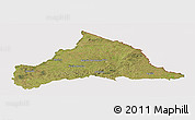 Satellite Panoramic Map of CERRO LARGO, cropped outside