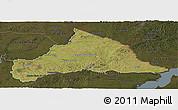 Satellite Panoramic Map of CERRO LARGO, darken
