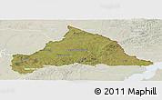 Satellite Panoramic Map of CERRO LARGO, lighten