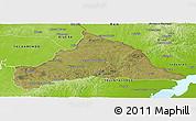 Satellite Panoramic Map of CERRO LARGO, physical outside