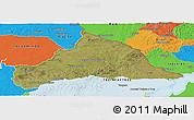 Satellite Panoramic Map of CERRO LARGO, political outside