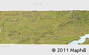 Satellite Panoramic Map of CERRO LARGO