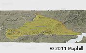 Satellite Panoramic Map of CERRO LARGO, semi-desaturated