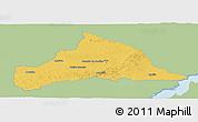 Savanna Style Panoramic Map of CERRO LARGO, single color outside