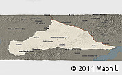 Shaded Relief Panoramic Map of CERRO LARGO, darken