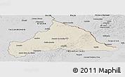 Shaded Relief Panoramic Map of CERRO LARGO, desaturated