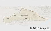 Shaded Relief Panoramic Map of CERRO LARGO, lighten
