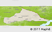 Shaded Relief Panoramic Map of CERRO LARGO, physical outside