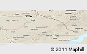 Shaded Relief Panoramic Map of CERRO LARGO