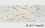 Shaded Relief Panoramic Map of CERRO LARGO, semi-desaturated