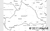 Blank Simple Map of CERRO LARGO