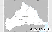 Gray Simple Map of CERRO LARGO, single color outside