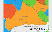 Political Simple Map of CERRO LARGO