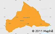 Political Simple Map of CERRO LARGO, single color outside