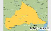 Savanna Style Simple Map of CERRO LARGO