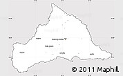 Silver Style Simple Map of CERRO LARGO, cropped outside