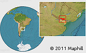 Satellite Location Map of COLONIA