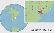 Savanna Style Location Map of COLONIA