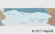 Political Panoramic Map of COLONIA, semi-desaturated
