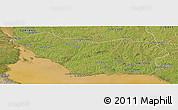 Satellite Panoramic Map of COLONIA