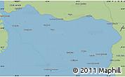 Savanna Style Simple Map of COLONIA