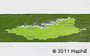 Physical Panoramic Map of DURAZNO, darken