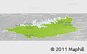 Physical Panoramic Map of DURAZNO, lighten, desaturated