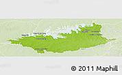 Physical Panoramic Map of DURAZNO, lighten