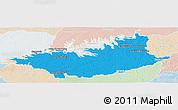 Political Panoramic Map of DURAZNO, lighten