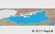 Political Panoramic Map of DURAZNO, semi-desaturated