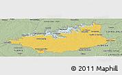 Savanna Style Panoramic Map of DURAZNO